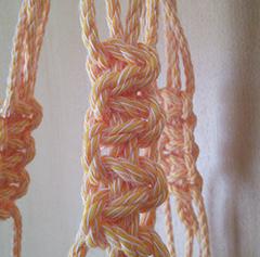 マクラメ平編み